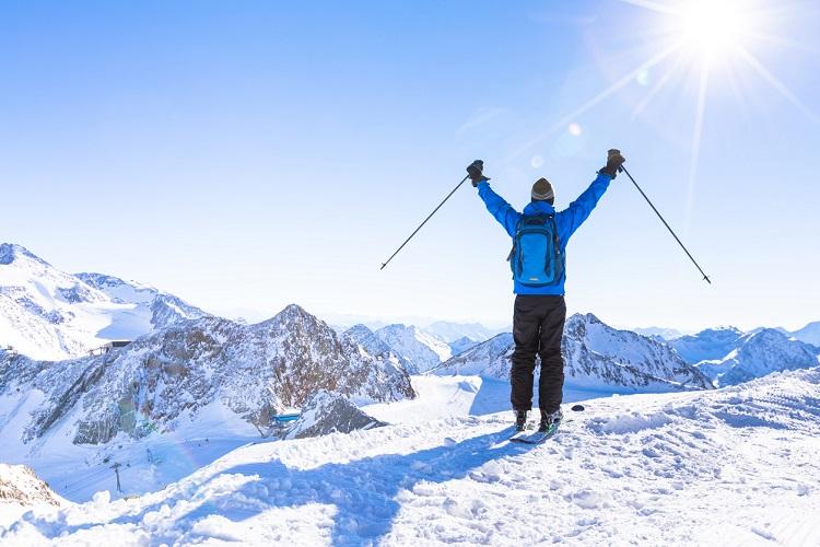 Beste Aussicht beim Skifahren