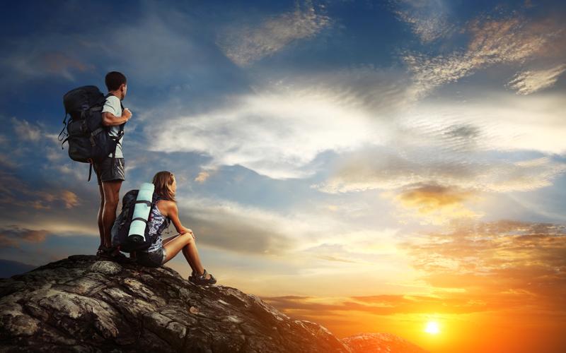 Per Rucksack auf Entdeckungsreisen gehen
