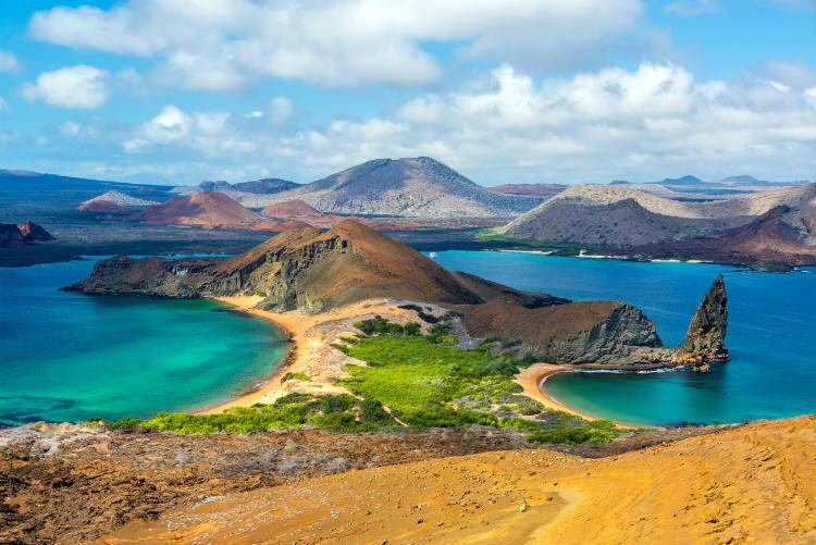 Galapagos Inseln Reisebericht - Blick von der Insel Bartolomé