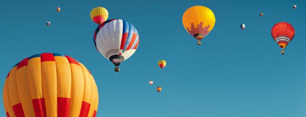 Heißluftballon-Fahrt