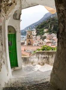 Romantischer Innenhof in Neapel