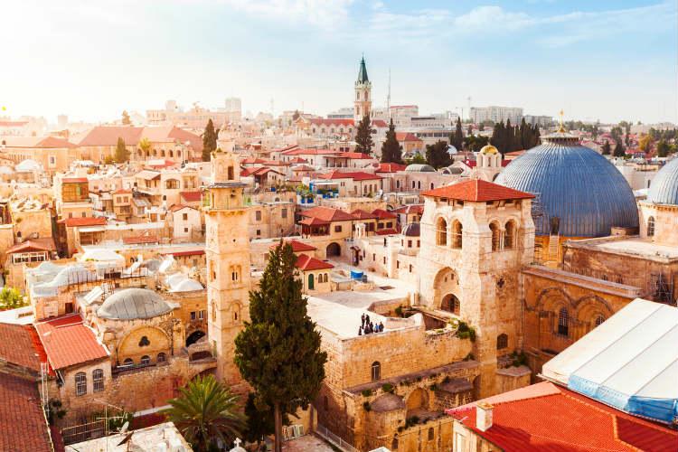 Jerusalem - Altstadt von oben