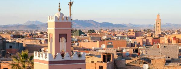 Marrakesch Gebäude