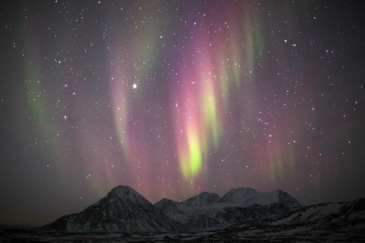Polarlichter Spitzbergen - Land der Eisbären