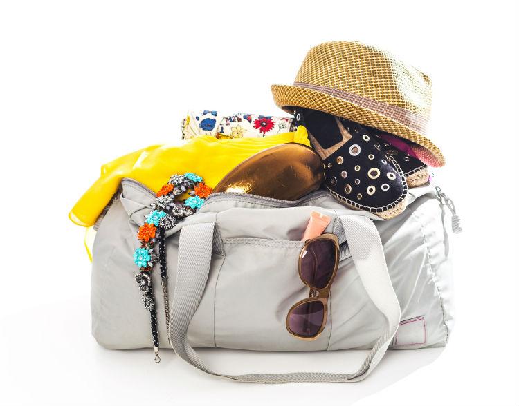 weiße voll Reisetasche