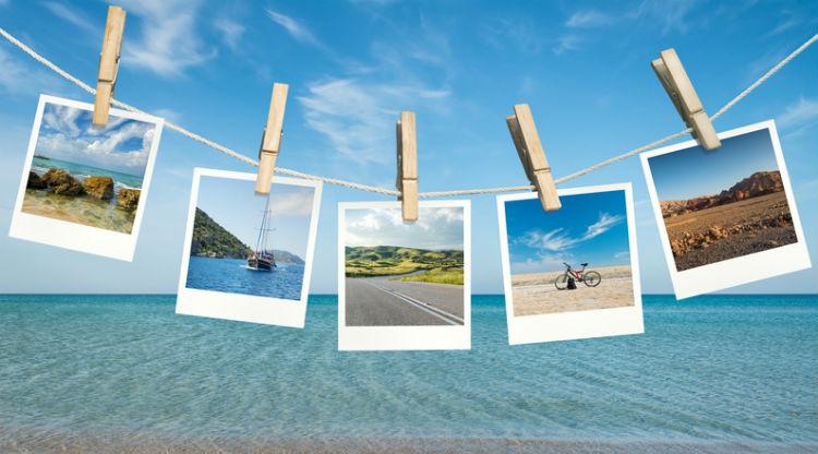 Urlaubsfotos Präsentieren
