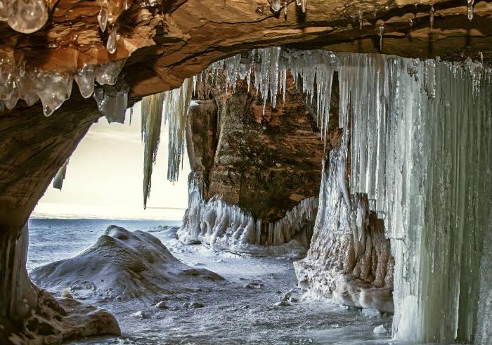 apostle islands vereiste höhle