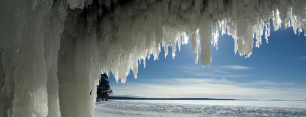 Die Eishöhle in den Apostle Islands