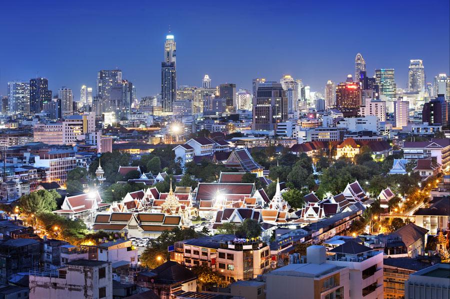 Bangkok bei Nacht 2014