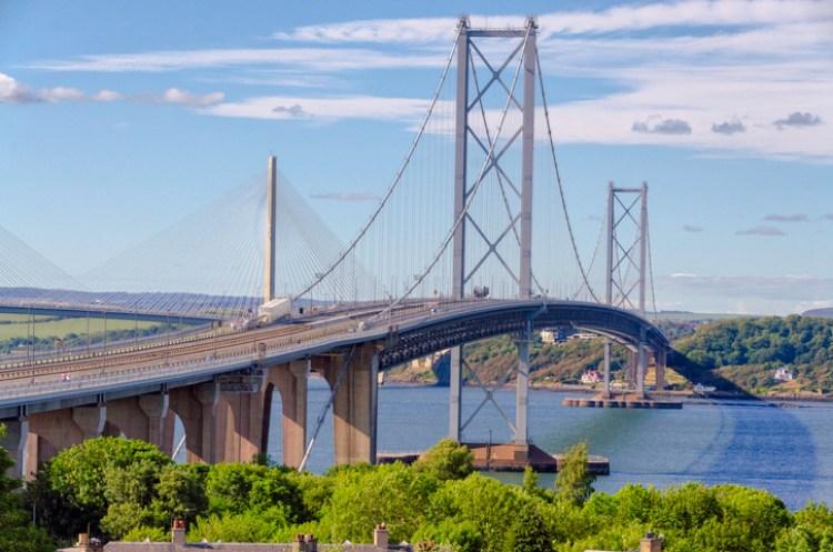 Der Klassiker - die Forth Road Bridge