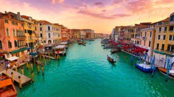 Venedig während eines Sonnenuntergangs