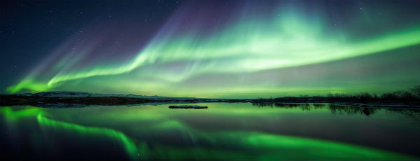 Polarlichter - Grün