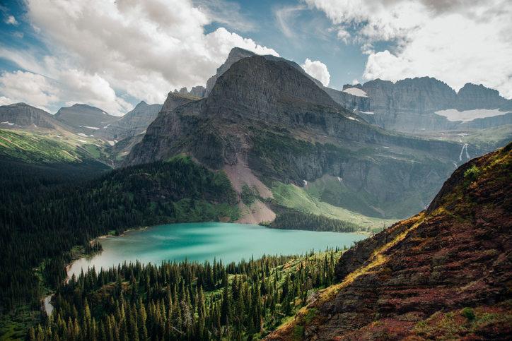 Panoramabild vom Glacier Nationalpark
