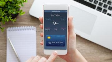 Flugtickets werden über Smartphone gebucht