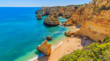 Bucht an einem Strand in Europa