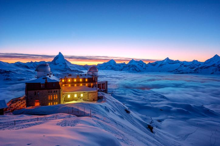 Spitze des Matterhorns in der Schweiz