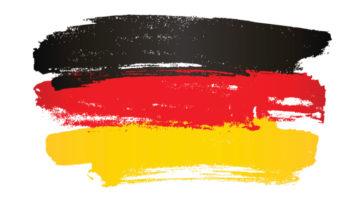 Gemalte Deutschland Flagge