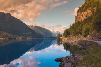 Hardanger Fjord-Norwegen-Landschaft