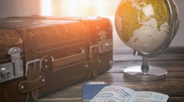 Reisepass mit Visa Stempel