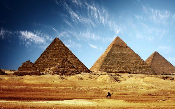 Panorama der Pyramiden von Gizeh in Ägypten