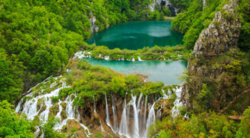 Plitvicer Seen in Kroatien