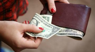 Portemonnaie mit Geldscheinen