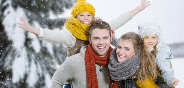 Winterurlaub Familie